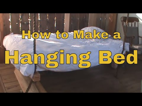 How To Make a Hanging Bed - Wooden Hammock  - Porch Swing Day Bed