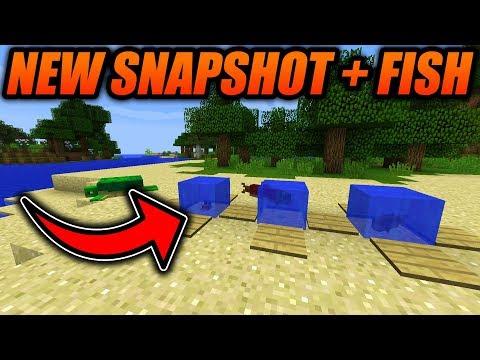 NEW MINECRAFT SNAPSHOT!! Minecraft 1.13 Snapshot New Features! - Minecraft Java Update Aquatic 1.13