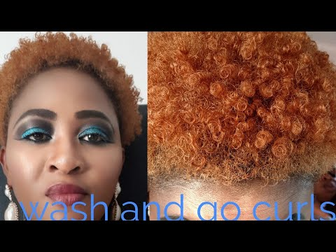 How to style/curl short tapered natural hair cut