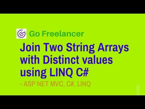 Join Two String Arrays with Distinct values using LINQ C#