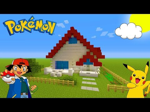Minecraft Tutorial: How To Make Ash Ketchums House from Pokemon!