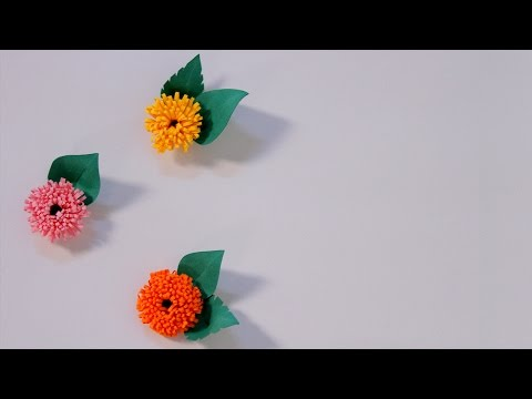 How To Make Quilled Fringed Flowers Using Paper Art Quilling | DIY