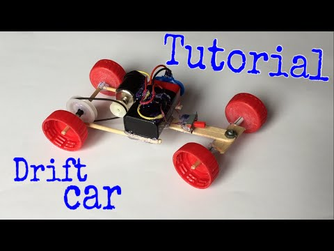 How to Make a Drift Car - Electric Powered Car - Tutorial - Very Simple
