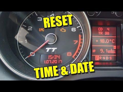 How to Set Time and Date Reset Auto Radio Satelite Audi VW TT