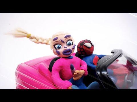 Elsa Frozen Tunnel Makeup Play Doh Animation Movie Frozen Cartoon Stop Motion Video