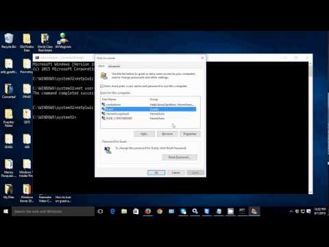 How to RESET Guest Account Password in Windows 10