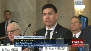Veteran, Dreamer Oscar Vasquez testifies on Sessions
