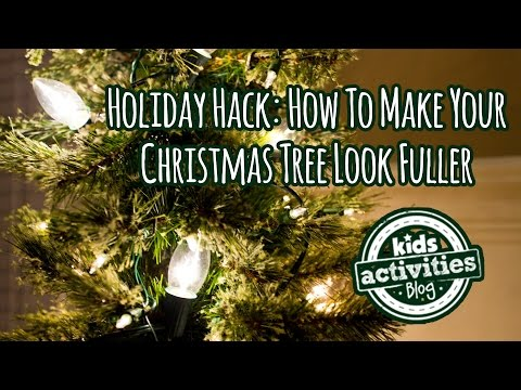 Holiday Hack: How To Make Your Christmas Tree Look Fuller