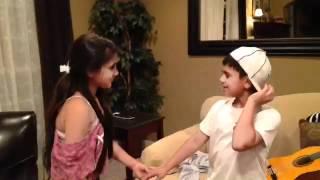 Kids singing to boyfriend