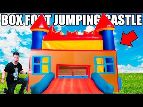 BOX FORT BOUNCY CASTLE!! 📦🏰 Ultimate Indoor Bouncy Castle Fort!