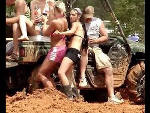 MUD TRUCKS GONE WILD and HOT CHICKS Mud Racing!!