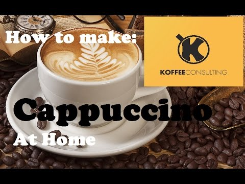 How to make Cappuccino at home without a machine (1st version) | Barista Training