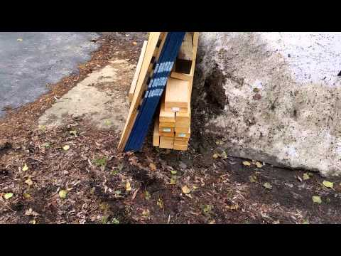 Homemade plywood and lumber cart dolly
