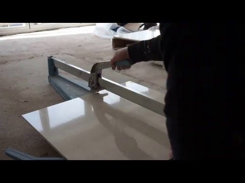 Cutting A Porcelanosa Porcelain Tile With A Sigma Tile Cutter
