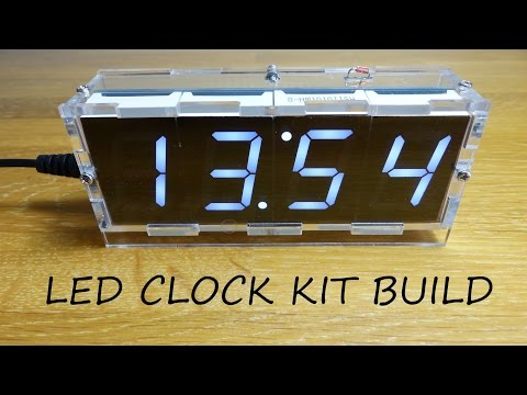 4 Digit LED Clock Kit with Temperature - Full Build