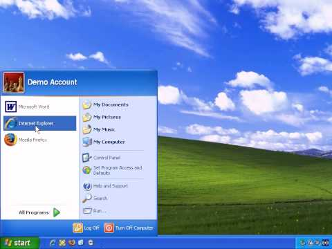 Introduction To Windows XP - How To Use The Windows Start Menu