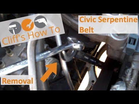 Civic Serpentine Belt Removal 2005-2011 Single Cam