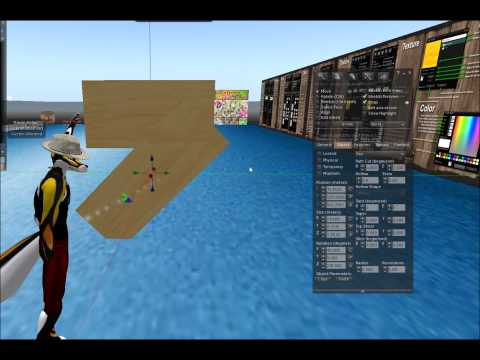 Basic building tutorial for Second life part 1 (of 2)