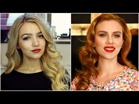 Scarlett Johansson classic Hollywood curls tutorial