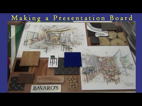 Making of a Presentation Board