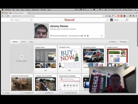 finding your pinterest address to add to your website