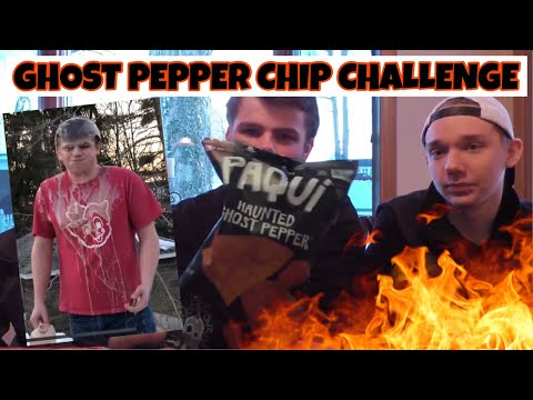 EATING 2 BAGS OF GHOST PEPPER CHIPS! (Food Challenge Friday)