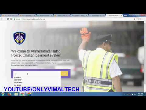 how to pay online e challan in ahmedabad e challan ahmedabad online payment