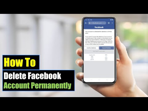 How to Delete Facebook Account Permanently On Mobile (Android or iPhone) 2018 | Mobile App