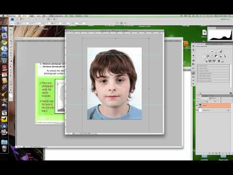 Resize to passport scecifications in photoshop