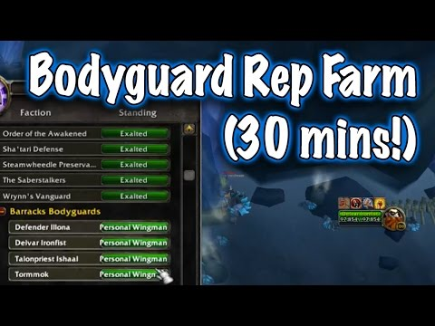 Jessiehealz - Follower Bodyguard Rep Farm Guide (World of Warcraft)