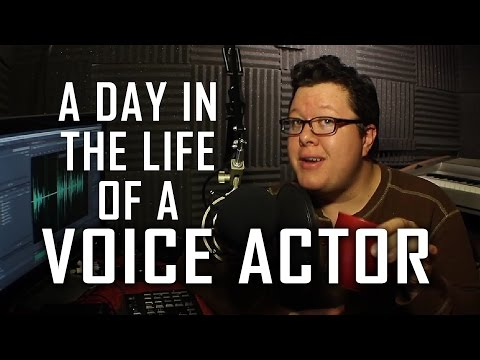 A Day in the Life of a Voice Actor