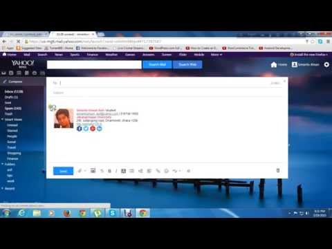 How to set or attach an email signature into my yahoo mail account