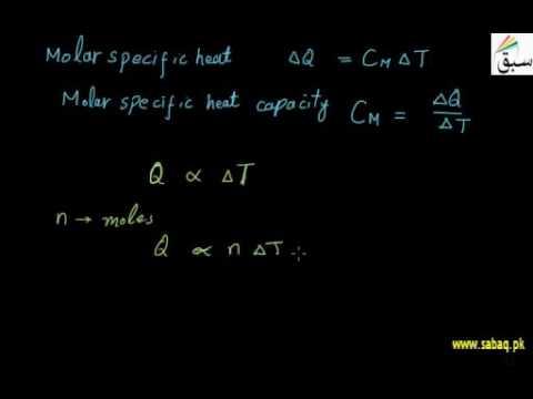 Molar Specific Heat f Gas