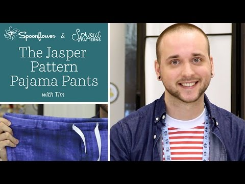 DIY Pajama Pants Tutorial   Sprout Patterns Jasper Pajama Pants + Spoonflower
