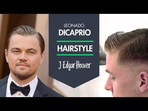 Leonardo DiCaprio Hairstyle as J. Edgar Hoover mens classic hair
