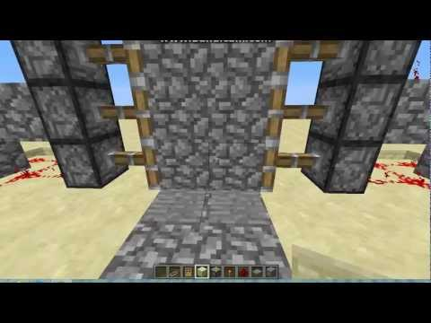 Redstone Tutorial: Piston Door with Pressure Plates and Time Delay