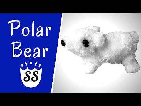 Easy Polar Bear Craft | Pom Pom Craft Ideas For Kids