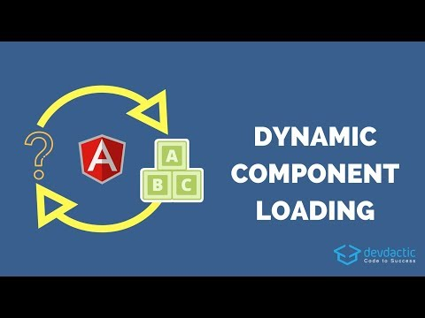 Dynamic Components with Ionic & Angular ComponentFactoryResolver
