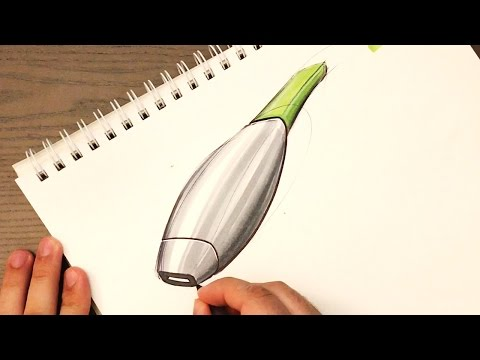 Industrial Design Sketching - How to Sketch Section Lines on Products