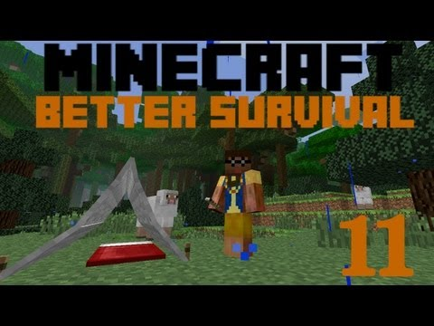 Minecraft Better Survival Mod | Ep. 11 - Pitching a Tent
