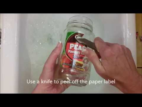 Easy Way to Remove Labels From Bottles and Jars