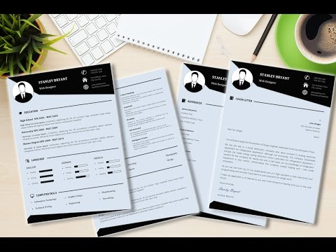 Modern CV / Resume Template Made in Microsoft Word