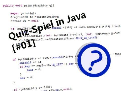 Let's make a Quizgame / Quizspiel [Java] (#01) [German] [HD]