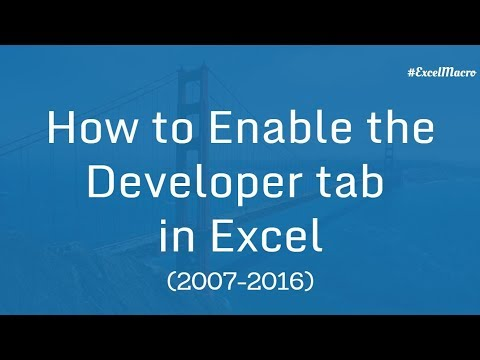 How to Enable Developer tab in Excel (2007-2016) | Excel VBA Macro Hindi