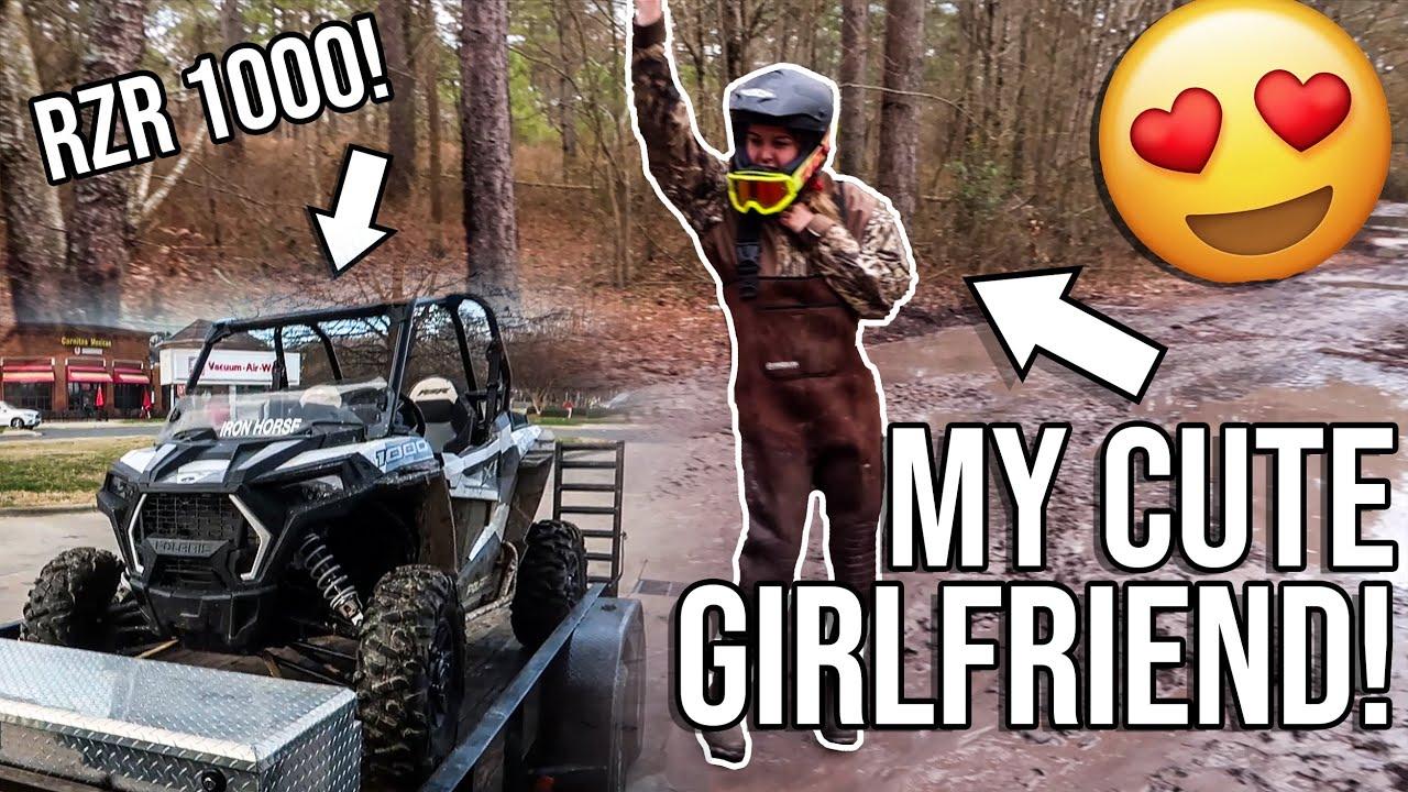 GIRLFRIEND Rides in RZR 1000!