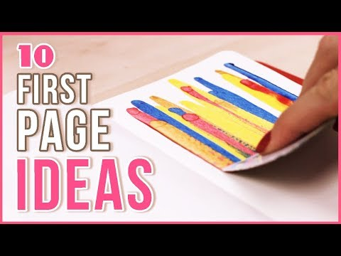 10 Ideas for the First Page in Your Sketchbook | Art Journal Thursday Ep. 19