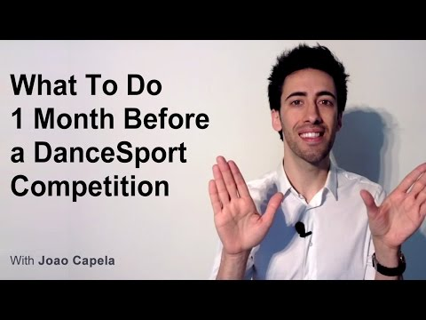 What To Do One Month Before a DanceSport Competition