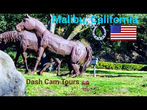 Dash Cam Tours 🚘 Malibu, California, USA ⛵ Calamigos ranch, Backbone hiking trail,  Zuma beach, PCH