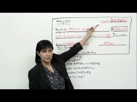Practical English: How to write a check