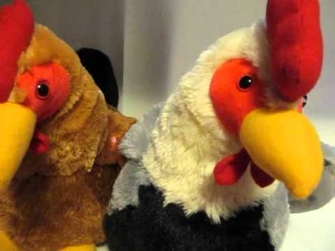 HugFun Giant Chickens Hen and Rooster Set Stuffed Animals
